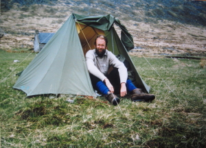 Camping at Ben Alder Cottage in 1987